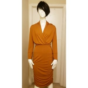 New York & Company Rust Colored Dress